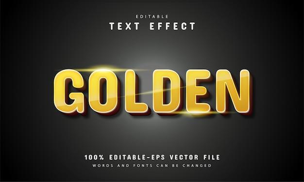 Złoty efekt tekstowy 3d