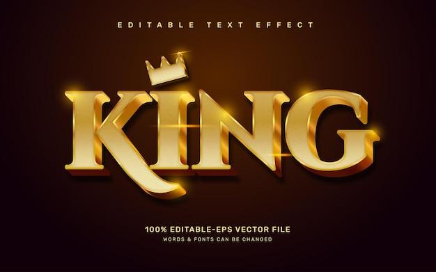 Złoty efekt tekstowy króla