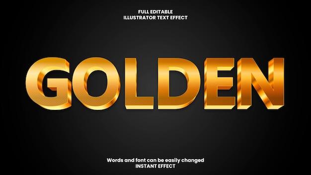 Złoty efekt tekstowy