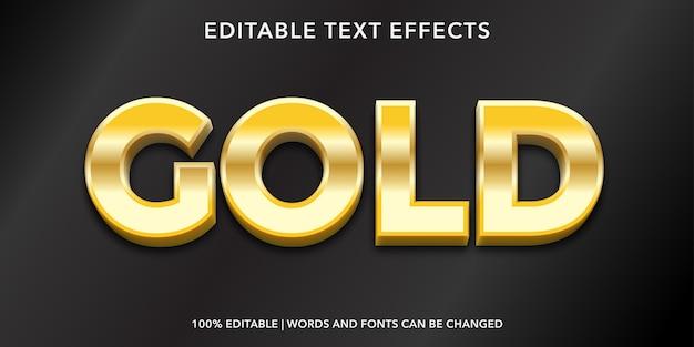 Złoty efekt tekstu edytowalnego stylu 3d