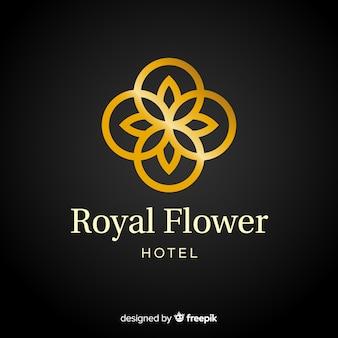 Złoty elegancki korporacyjny szablon logo