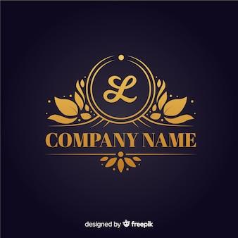 Złoty elegancki logo szablon