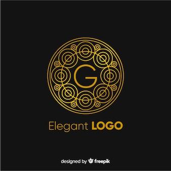 Złoty elegancki szablon logo firmy