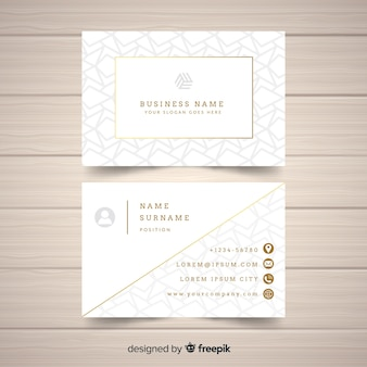 Złoty elegancki wizytówka szablon