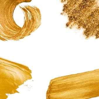 Złoty falowy abstrakcjonistyczny tło wektor