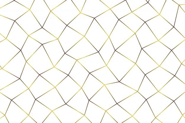 Złoty geometryczny abstrakcjonistyczny tło.