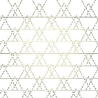 Złoty geometryczny wzór z trójkątami