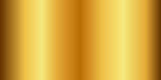 Złoty gradient chrom kolor folii tekstury tła. wektor złoty, miedziany mosiądz i metalowy szablon.