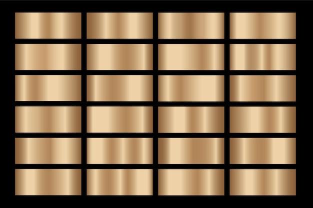 Złoty gradient zestaw tła