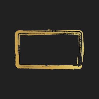 Złoty grunge rocznika malowane prostokątne kształty. ilustracja wektorowa.