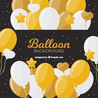 Złoty i biały balonu tło świętować