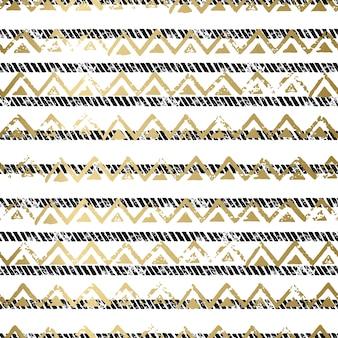 Złoty i czarny bez szwu deseń
