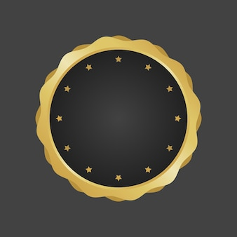 Złoty i czarny luksusowy metaliczny odznaka szablon wektor.