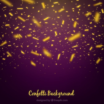 Złoty i jaskrawy confetti tło