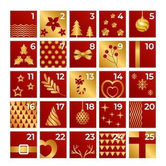 Złoty kalendarz adwentowy