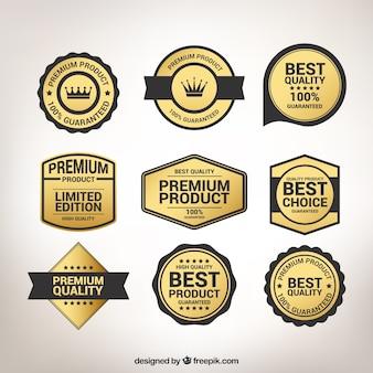 Złoty kolekcji naklejek