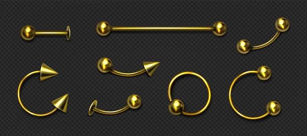 Złoty komplet biżuterii