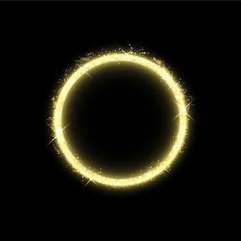 Złoty krąg z efektami świetlnymi