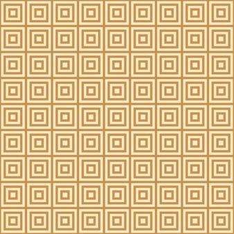 Złoty kwadrat na żółtym tle niekończące się wschód wzór