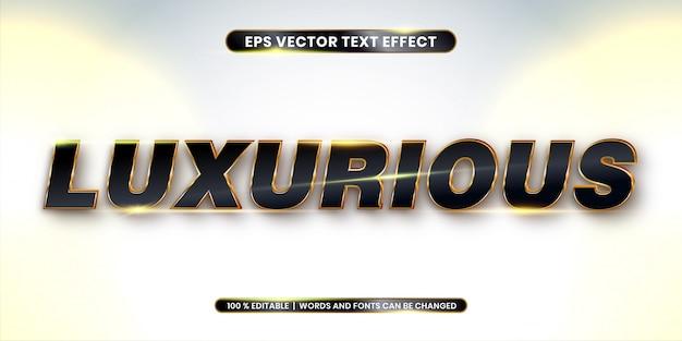Złoty luksusowy efekt tekstowy do edycji