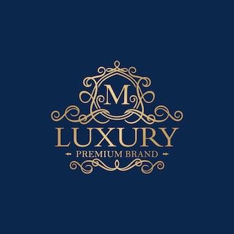 Złoty luksusowy logo projekt wektor szablon
