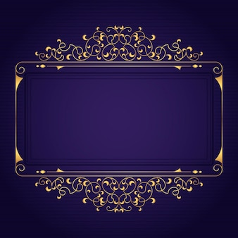 Złoty luksusowy szablon ramki gradientowej