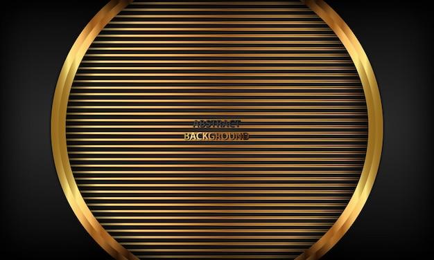 Złoty luksusowy szablon tła z geometrycznymi kształtami