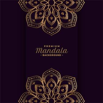 Złoty mandali ozdobny projekt tła