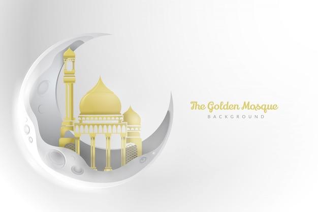 Złoty meczet w tle