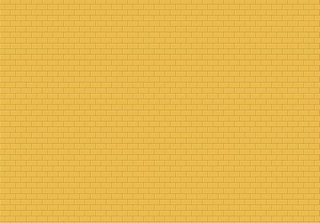 Złoty mur z cegły tło. żółtej cegły tekstury bezszwowy deseniowy wektor.