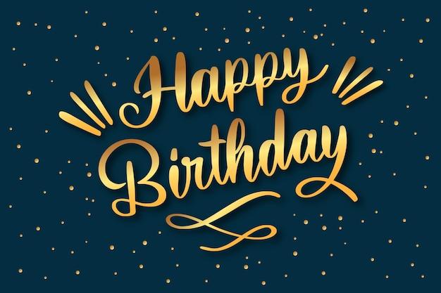 Złoty napis urodzinowy