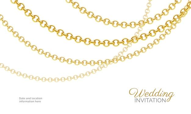 Złoty naszyjnik z łańcuszkiem.