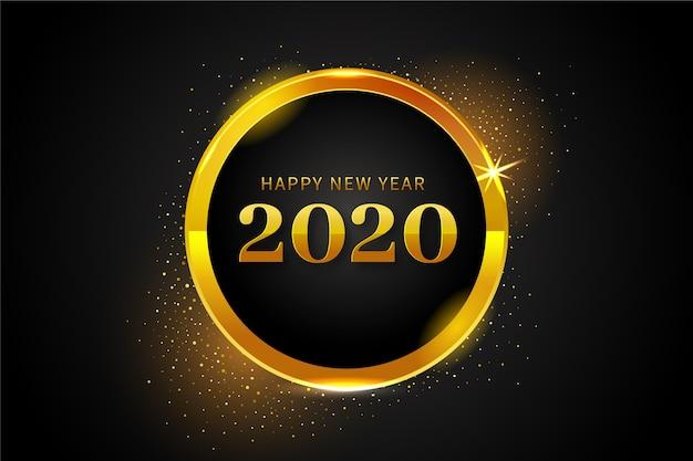 Złoty nowy rok 2020 tło