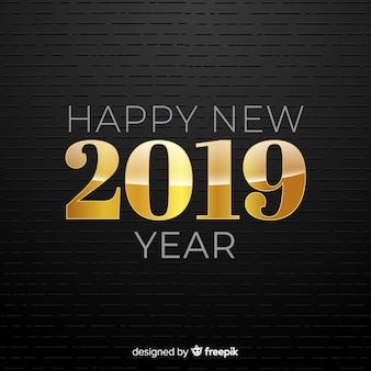 Złoty numer nowego roku tło