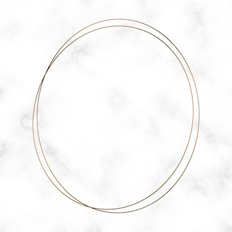 Złoty okrągły szablon ramki