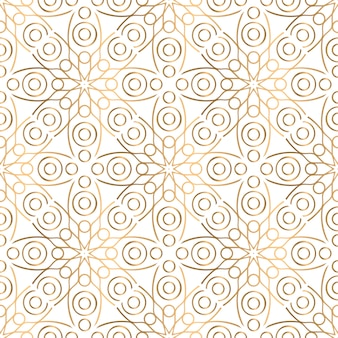 Złoty ozdobny wzór mandali