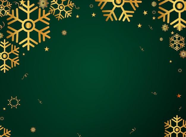 Złoty padający śnieg.