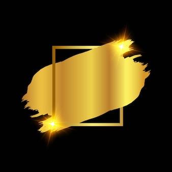 Złoty pędzel gradientowy z ramką