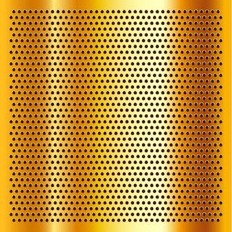 Złoty perforowany arkusz