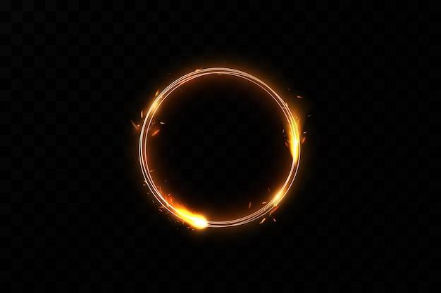 Złoty pierścień ognia.