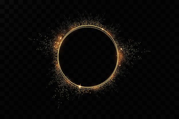 Złoty pierścionek. luksusowa musująca rama.