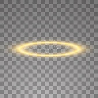 Złoty pierścionek z aureolą.