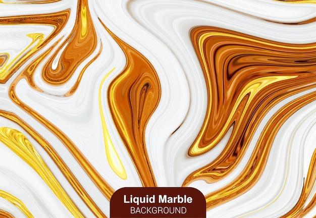 Złoty płynny marmurowy tło