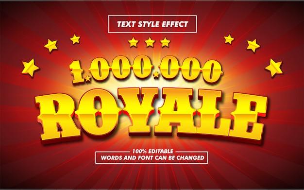 Złoty pogrubiony efekt stylu tekstu