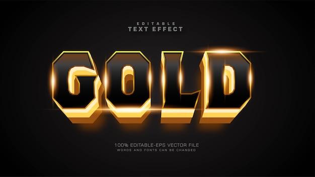 Złoty pogrubiony efekt tekstowy