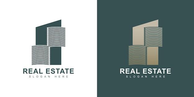 Złoty projekt logo nieruchomości