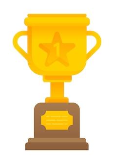 Złoty puchar nagroda izolowana za pierwsze miejsce