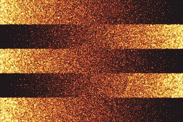 Złoty shimmer świecące cząsteczki tło wektor