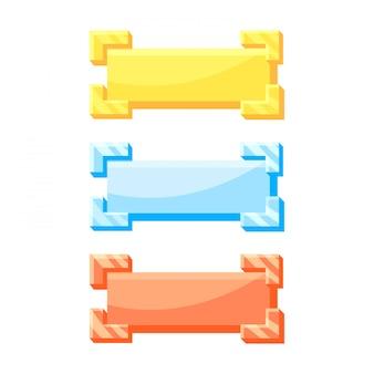Złoty, srebrny i brązowy przycisk do elementów interfejsu gry