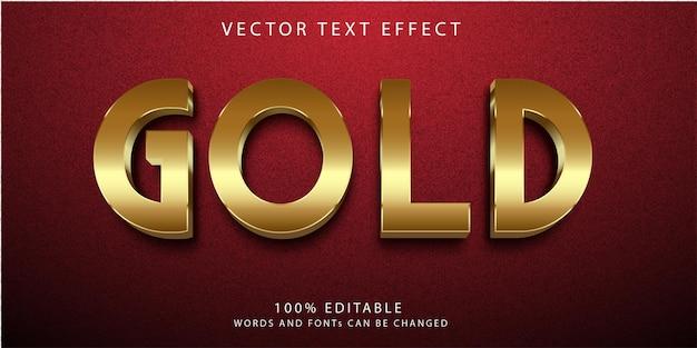 Złoty szablon stylu efektów tekstowych